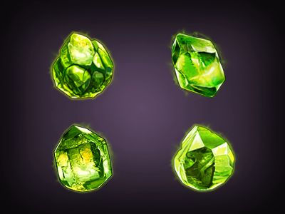 Practicing painting some gemstones for a game hard currency.