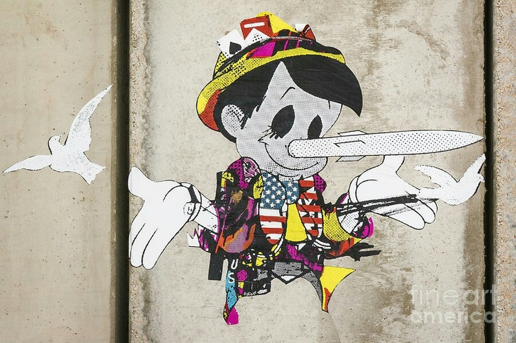 Pinocchio, Banksy, Palestine