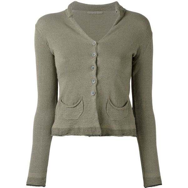 Now $254 - Shop this and similar TRANSIT cardigans - Khaki linen blend patch pocket cardigan from Transit. Color: Green. Gender: Female. Material: Cotton/Linen/...