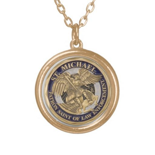 SAINT MICHAEL MEDAL PATRON OF POLICE OFFICER CUSTOM JEWELRY (military, too actually)