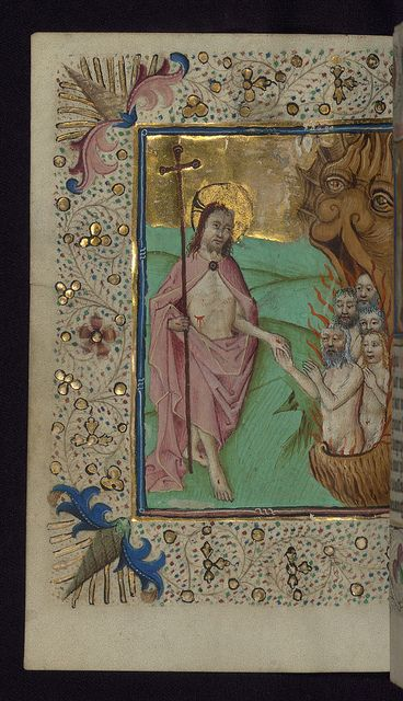 Illuminated Manuscript, Book of Hours in Dutch, Harrowing of hell, Walters Manuscript W.918, fol. 149v by Walters Art Museum Illuminated Manuscripts, via Flickr