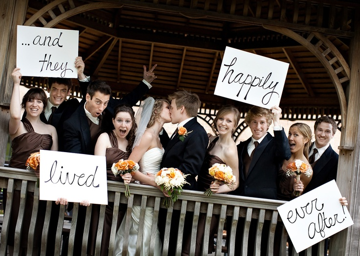 and they lived happily every after... cute wedding pictures idea