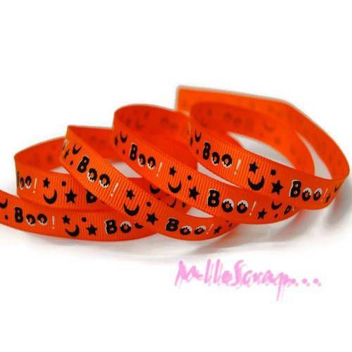1 m ruban imprimé halloween orange embellissement scrapbooking carterie* de la boutique MademoiselleScrap sur Etsy