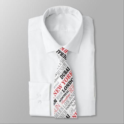 Cities of the world - Cravattes Cravates Personnalisées