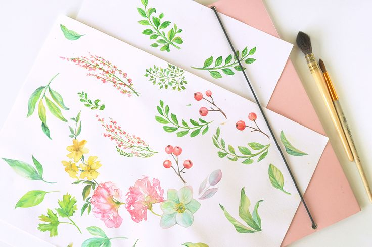 Watercolor painting for Angelworx logo by Kateryna Savchenko