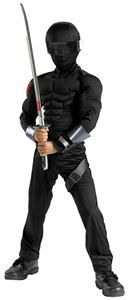 G.I. Joe Movie: The Rise of Cobra Snake Eyes Classic Muscle Child Costume | trendyhalloween.com #gijoe #snakeeyes