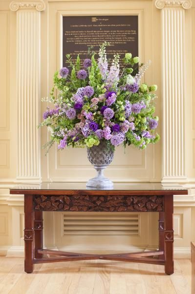 Image result for purple altar flowers