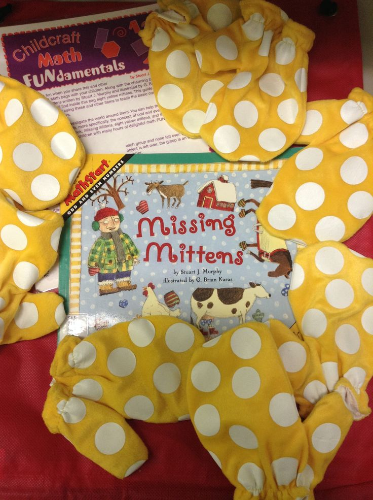 """513.211 M87 """"Missing Mitten, Math Bag""""  Math bags contain materials designed to help children grasp the basics of math centered concepts. This kit teaches the concept of understanding odd and even numbers.  As a farmer tries to find the correct number of mittens for his various farmyard animals, the reader is introduced to odd and even numbers. **Also have additional """"Missing Mitten"""" in our easy read collection E KEL **"""