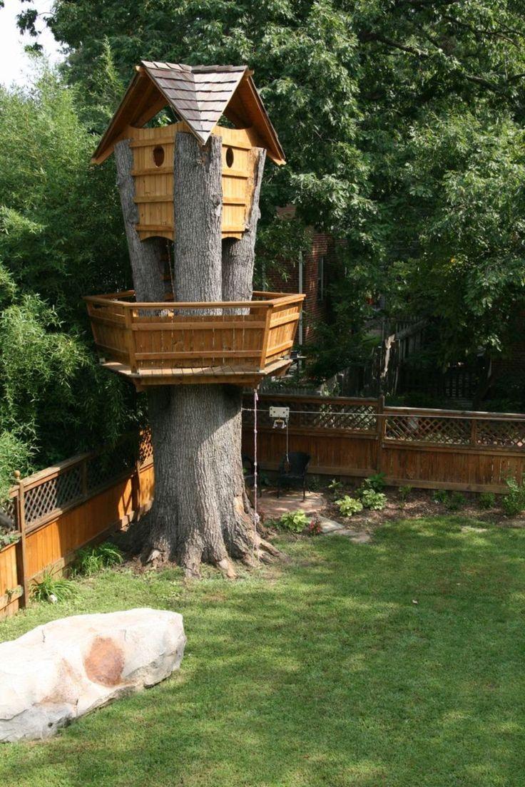 Enchanted fairy tree house here is a little faerie tree house linda - 73 Fabulous Tree House Design Ideas