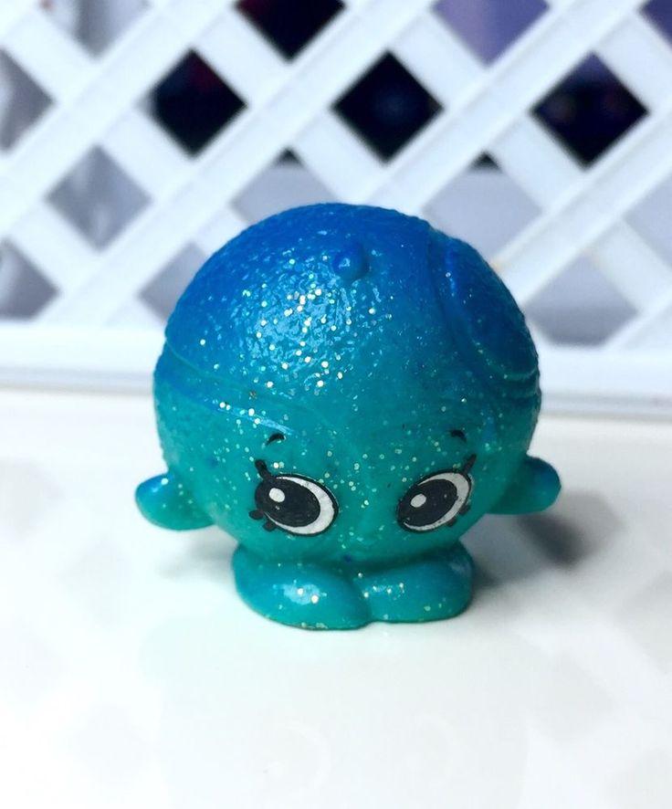 Shopkins Season 4 Dennis Ball Blue 075 Glitter #Shopkins