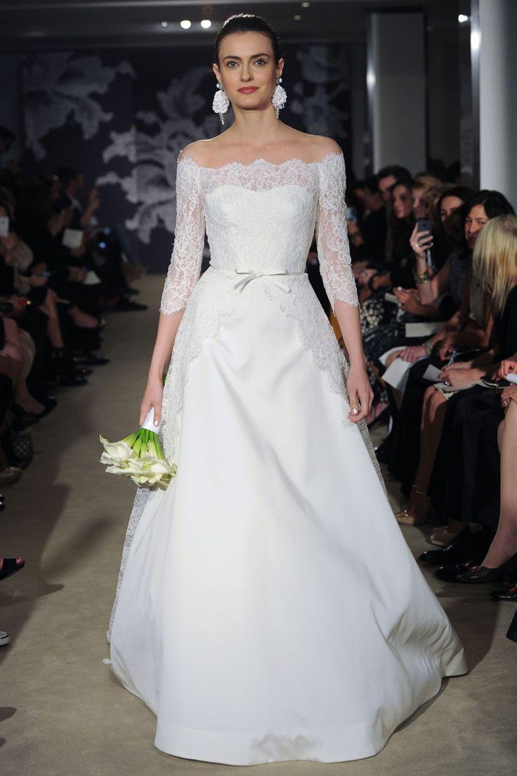 calmen #CarolinaHerrera #SS2015 #NewYork #NOVARESE #weddingdress #dress #white  #カルメン #キャロリーナ・ヘレラ #ウエディングドレス #Aライン #白