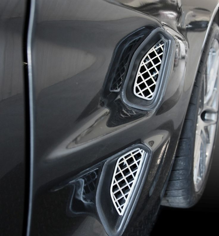 C6 Corvette ZR1 Front Fender Mesh Grills Corvette zr1