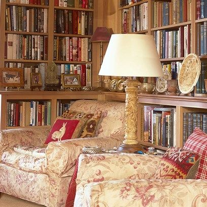 Bookshelves - A new build belonging to artist Sue Phipps in the Scottish Borders filled with artwork and curiosities - real home on HOUSE by House & Garden.