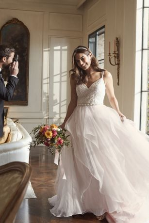 068e77f06983b Garza Ball Gown Wedding Dress with Double Straps | David's Bridal ...