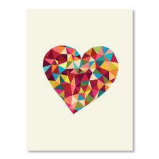 Motivated Heart Polygon Graphic Art