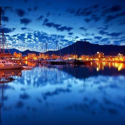 Twilight time ~ Marina of Port de Pollença (Puerto Pollensa), Mallorca, Spain     Photo by Lucie Debelkova