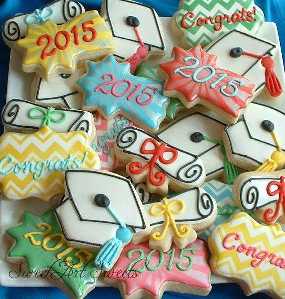 Graduation cookies 1 dozen graduation cookies by SweetArtSweets