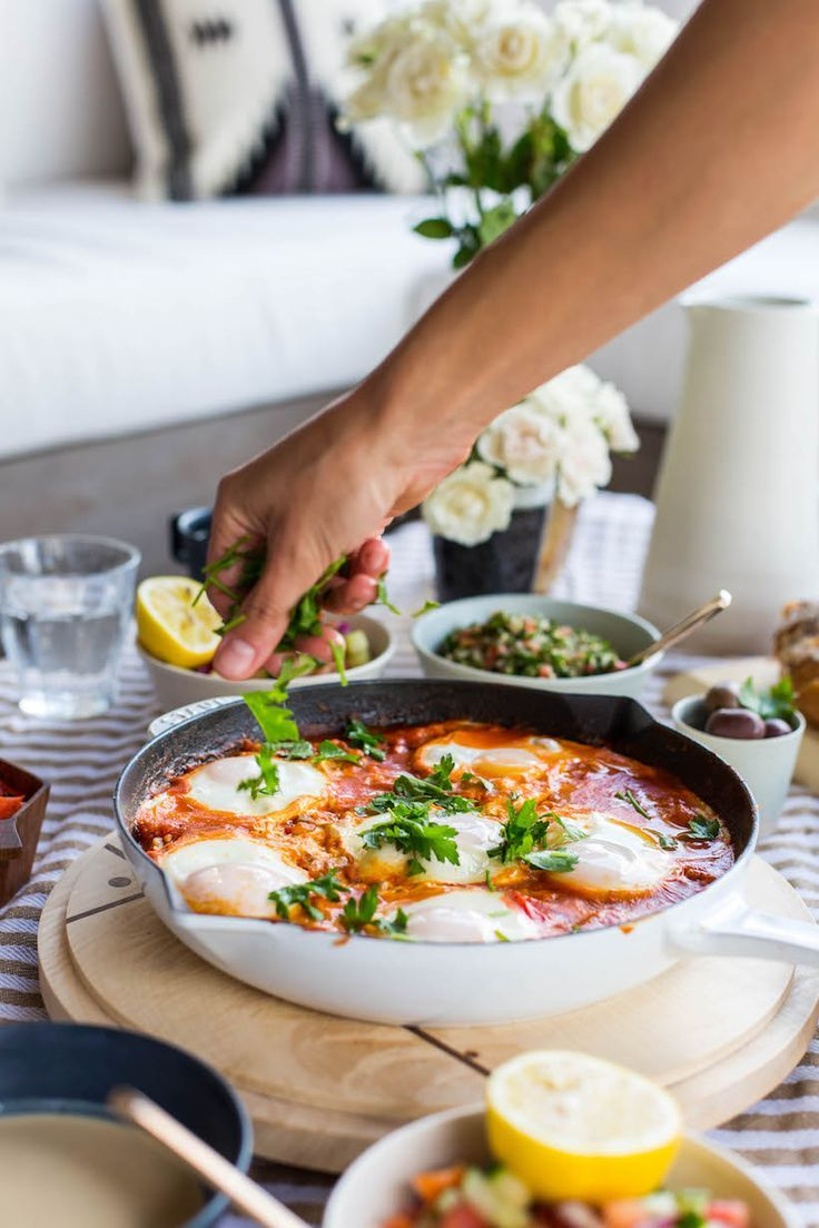 My new breakfast obsession - shakshuka! Click here to get the recipe for one of the most delicious breakfast dishes ever, seriously can't wait to make this again this weekend!