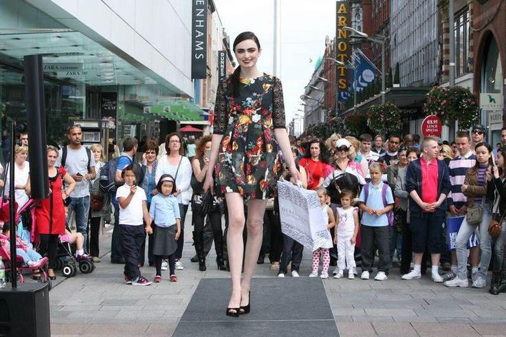 On-street catwalk shows at Dublin Fashion Festival 2013 #LoveDublin