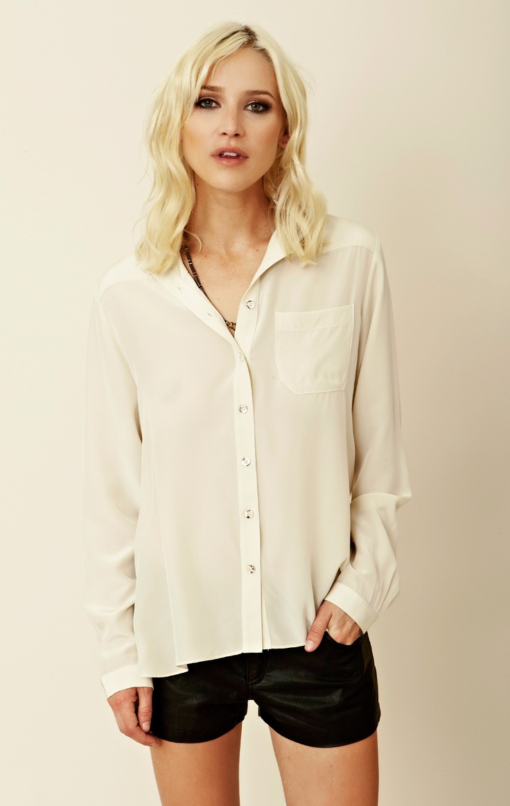 Mara Hoffman Triangle Back Button Down  front: Hoffman Triangles, Buttons