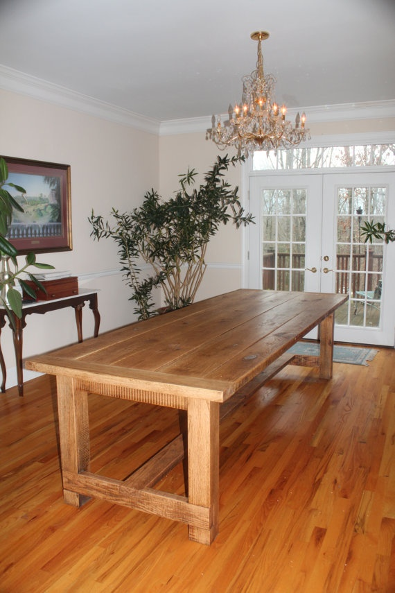 10FT Custom Handcrafted Farm Table (Etsy)
