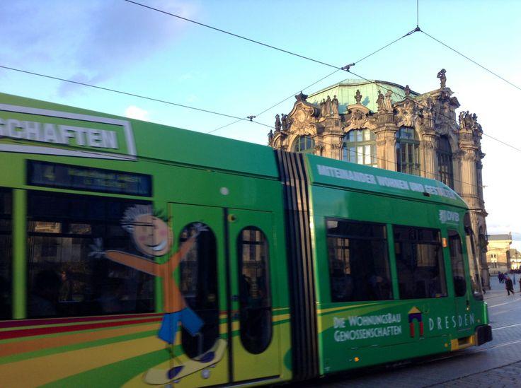 Трамвай в Дрездене является основой транспортной системы города.