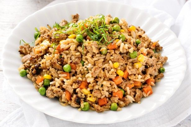 The only thing that needs chopping in this fried rice is the onion. It doesn't get much easier than that!