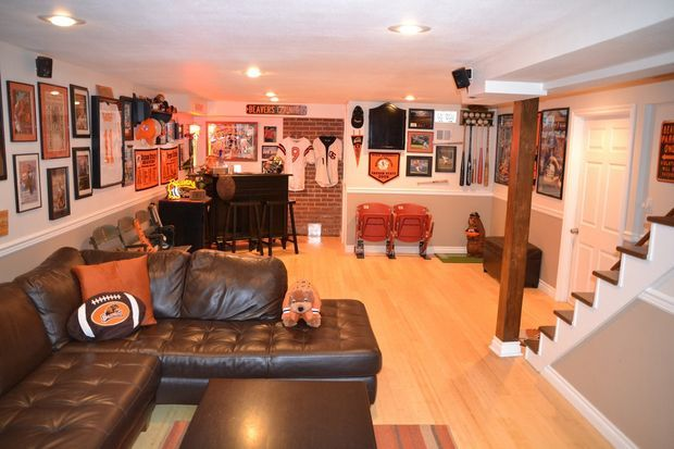 Man Cave Decor Jobs : Images about sports man caves on pinterest