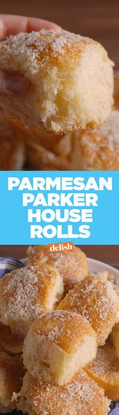 Your family will fight over these Parmesan Parker House Rolls. Get the recipe on Delish.com.