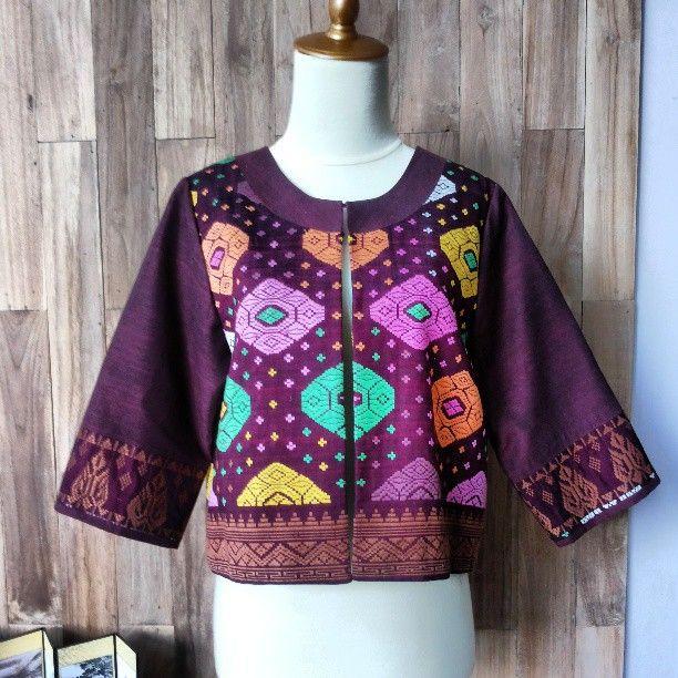 Bali Songket Purple Blazer