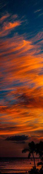 Landscape and night photography by Thomas O'Brien:  Coast, Night Photography,  Seacoast,  Sea-Coast, Sunsets Hawaii, Waikiki Beaches, Hawaii Sunsets, Beaches Sunsets, Sunrises Sunsets