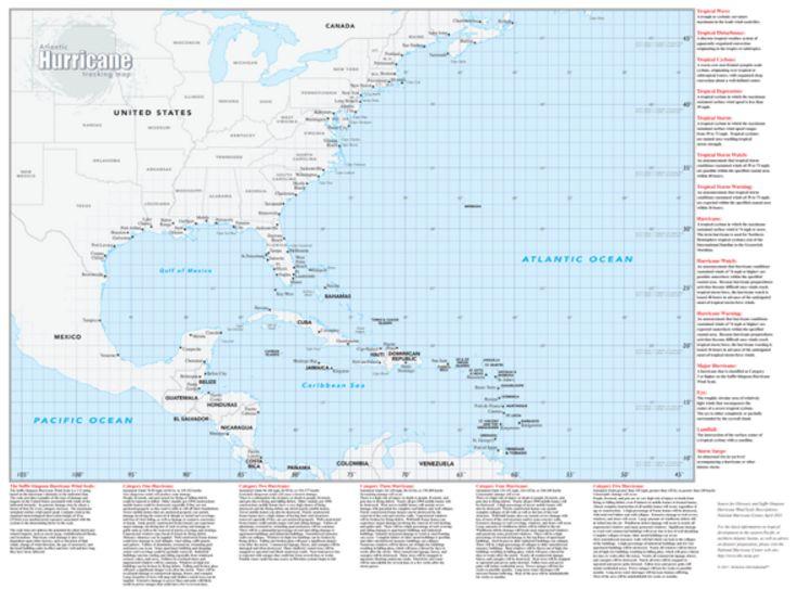Best Hurricane Tracking Map Ideas On Pinterest Track - United states map latitude and longitude