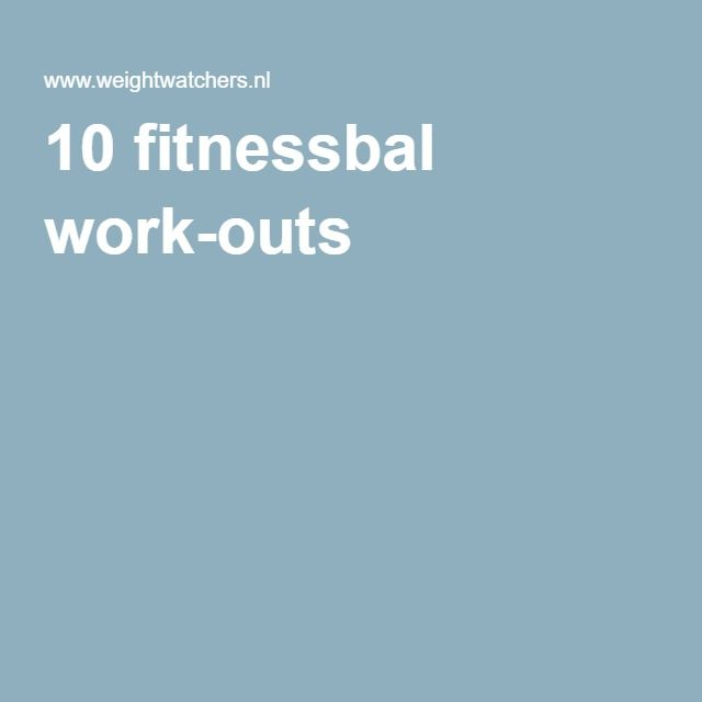 10 fitnessbal work-outs