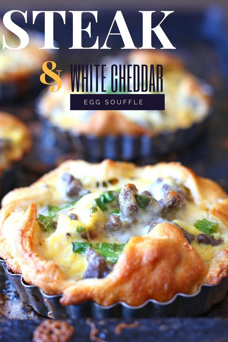 Steak and White Cheddar Egg Souffle