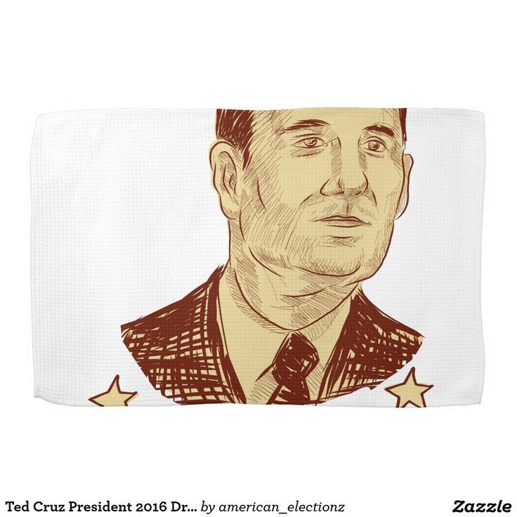 Ted Cruz President 2016 Drawing Hand Towels. Ted Cruz President 2016 drawing hand towels with a sketch style illustration showing Rafael Edward Ted Cruz, an American senator, politician and Republican 2016 presidential candidate set inside crest shield with words Cruz 2016 . #Cruz2016 #republican #americanelections #elections #vote2016 #election2016