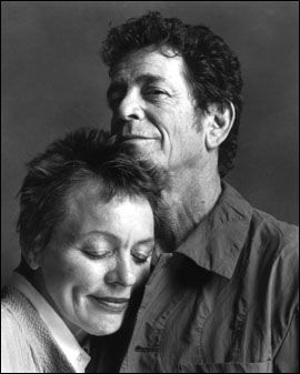"Laurie Anderson & Lou Reed.    ""you're the guy I want to share my money with"""