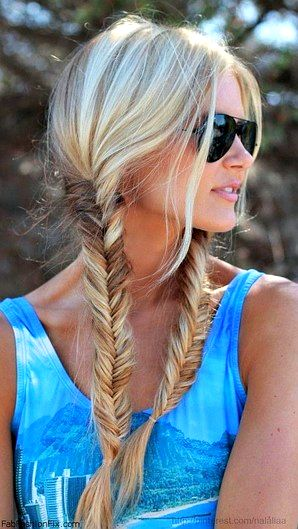 We all love one fishtail braid, but there's something so unique and just plain cool about rocking two this summer.