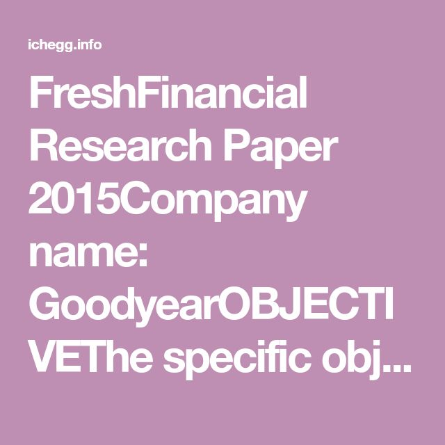 Financial research papers