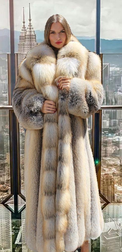 full length golden island fox coat 53566 in 2019 women 39 s. Black Bedroom Furniture Sets. Home Design Ideas