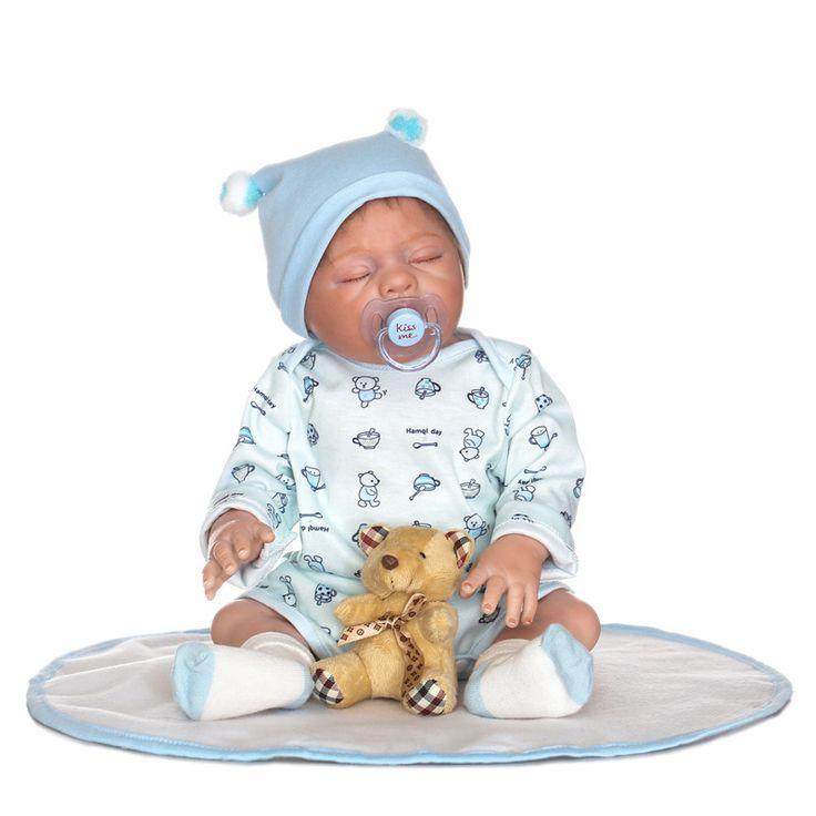 "Find More Dolls Information about NPK bebe doll reborn 20""full silicone reborn baby dolls boy gender body  kids girl gift bonecas reborn com corpo de silicone ,High Quality reborn corpo de silicone,China silicone reborn Suppliers, Cheap boneca reborn from SunnyToysCity Store on Aliexpress.com"