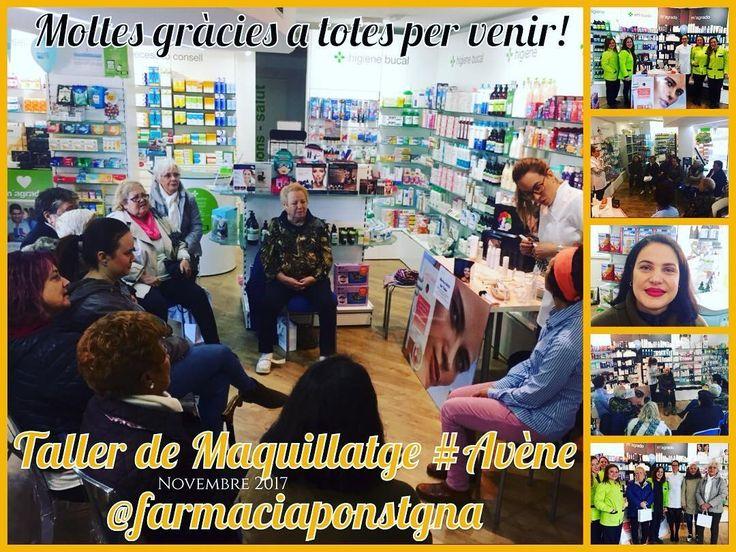 Curso de maquillaje Avène Couvrance en Farmacia Pons Tarragona. Diciembre 2017 .  www.farmaciaponspons.com