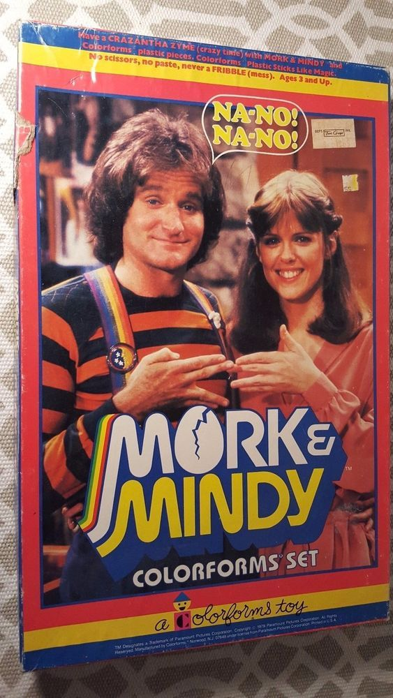 Vintage 1979 Mork and Mindy TV Show Colorforms Set Robin Williams Dawber !!! #Colorforms
