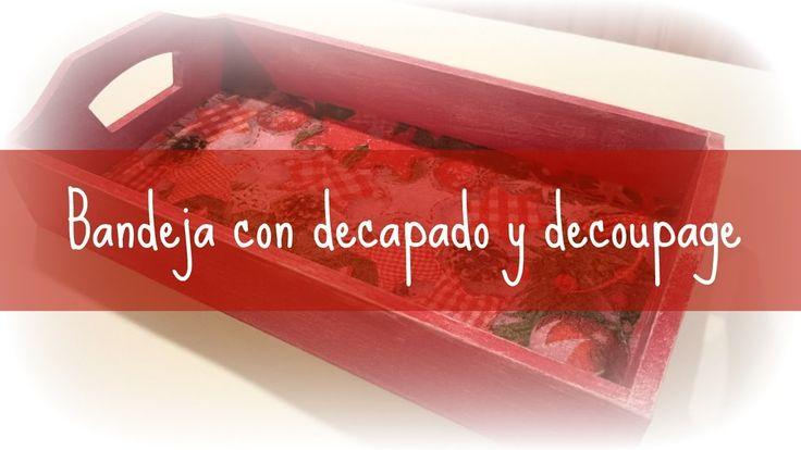 Bandeja con decapado y decoupage #decoración #decoupage #manualidades #decapado #diy #handmade #crafts