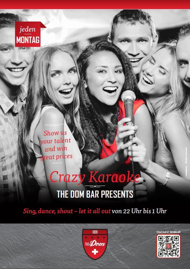 Karaoke - let's have fun together - see you every monday during the winter season 2013 / 2014 @ The Dom Bar.