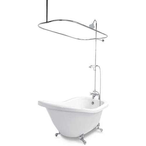 "Zoomed American Bath Factory 59"" x 31"" Chelsea White"
