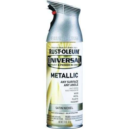 Rust-Oleum 11 Oz Satin Nickel Metallic Universal Metallic Spray Paint (249130) - Spray Paint - Ace Hardware