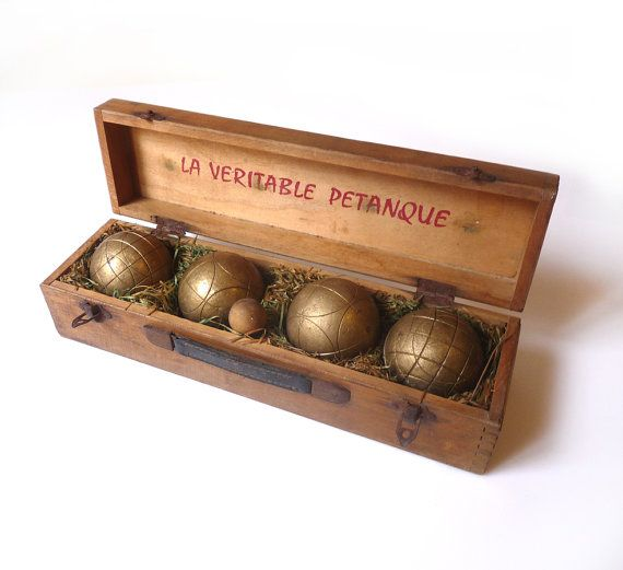Vintage French bronze Petanque Boules with a by FrenchVintageShop
