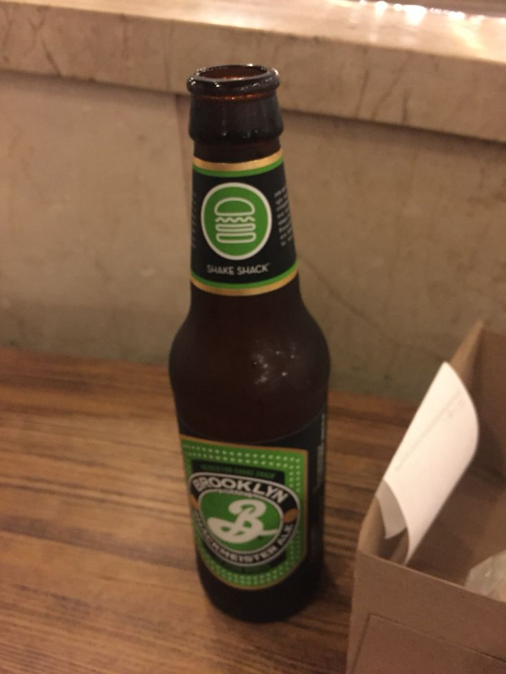Brooklyn Lager. One of my favorite brands! I had it at Shake Shack in Manhattan.