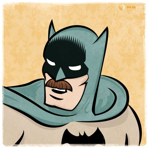 Batstache: Geek, Whiskers, Comic Book, Batman, Wes Montgomery, Fans Art, Art Pop, Mustache, Superhero