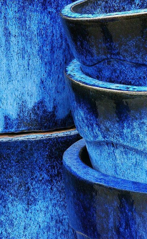 Cobalt Pottery Pots.
